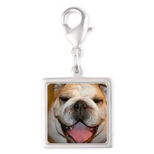 happybullie Silver Square Charm