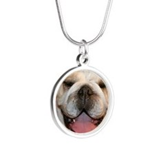 happybullie Silver Round Necklace