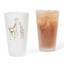 giraffes Drinking Glass
