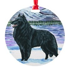 bel shep snow Ornament