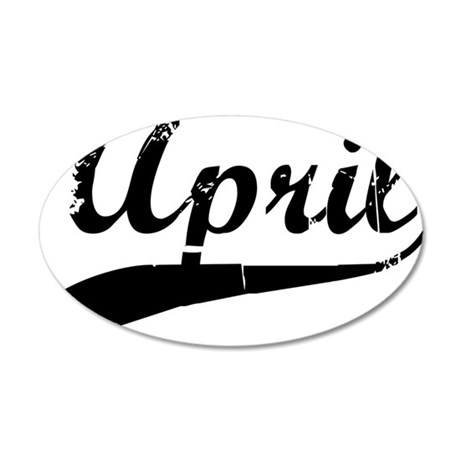 april 35x21 Oval Wall Decal
