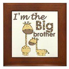 big brother giraffe Framed Tile