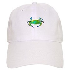"""Neon"" Blue Crab Baseball Cap"