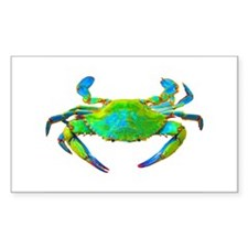 """Neon"" Blue Crab Rectangle Decal"