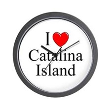 """I Love Catalina Island"" Wall Clock"