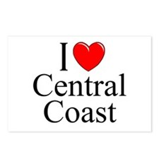 """I Love Central Coast"" Postcards (Package of 8)"