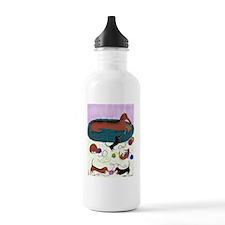 KnittingDachshundPoste Water Bottle