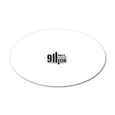 911mossad 20x12 Oval Wall Decal
