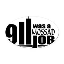 911mossad Oval Car Magnet
