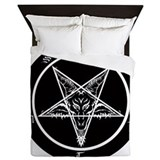 Black satanic Queen Duvet Covers