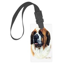 St Bernard copy Large Luggage Tag