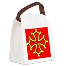 Occitan Sticker Canvas Lunch Bag