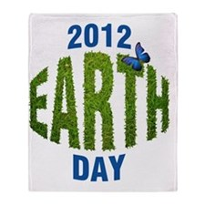 EARTH_Day_2012 Throw Blanket