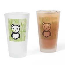Bamboo Panda  Drinking Glass
