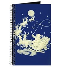Christmas Santa Claus Night Sky Journal