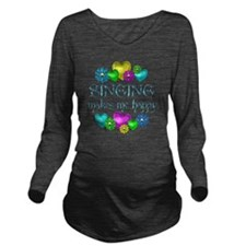 SING Long Sleeve Maternity T-Shirt