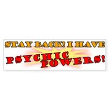Psychic Powers Bumper Bumper Sticker