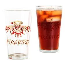 Fire Bird Drinking Glass