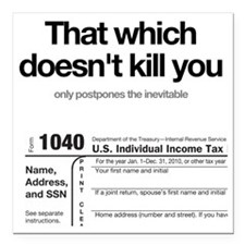 "kill-you-onWHITE Square Car Magnet 3"" x 3"""