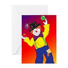 23x35_Clown Poster_4 Greeting Card