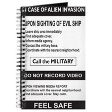 In Case of Alien Invasion_3x5 Journal