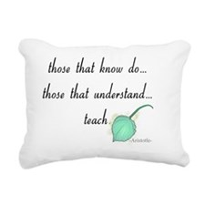 Teacher aristotle quote  Rectangular Canvas Pillow