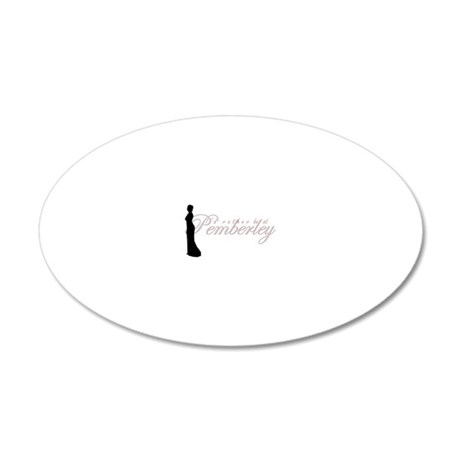 pemberley 20x12 Oval Wall Decal