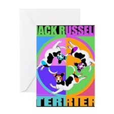 Jack Russell Terrier Graphic Greeting Card