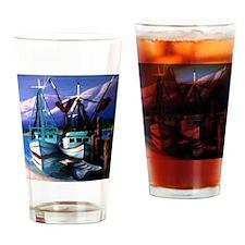 shrimp_boats-3 Drinking Glass