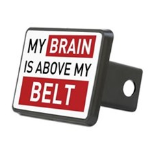 brain is above my belt Rectangular Hitch Cover