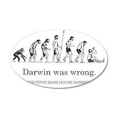 DarwinWasWrong-Bagley300 35x21 Oval Wall Decal