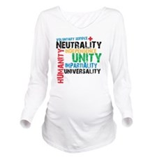 red cross 3NL Long Sleeve Maternity T-Shirt