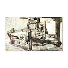 Van Gogh The Weaver Rectangle Car Magnet