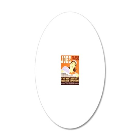 Jobs for Women 20x12 Oval Wall Decal