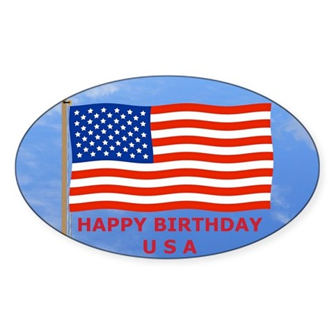 July 4th Mini Poster, U.S., Am Decal