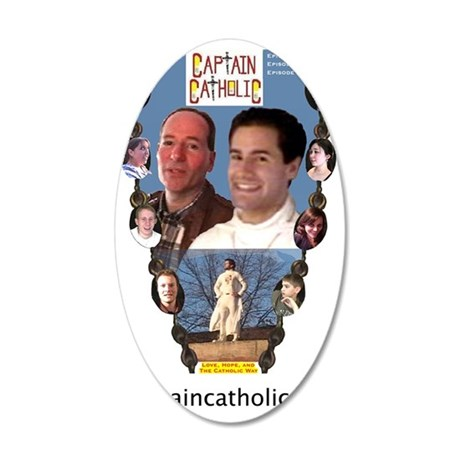 CAPTAIN CATHOLIC - EPISODES  35x21 Oval Wall Decal