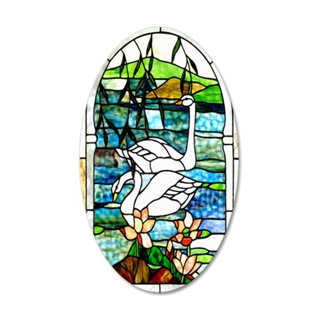 Beautiful_Swans_iPhone 3 35x21 Oval Wall Decal