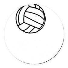 Volleyball Court White Round Car Magnet
