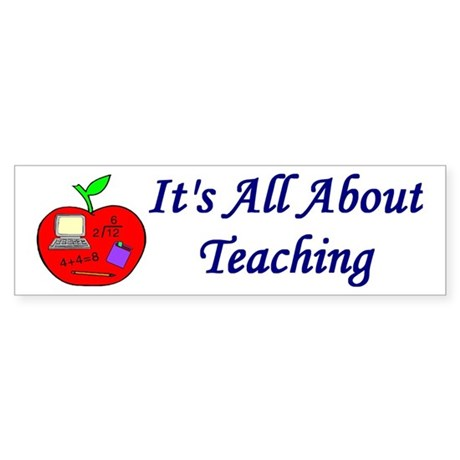 Teacher Bumper Sticker
