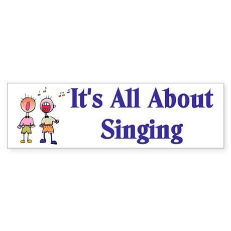 Singer Bumper Sticker