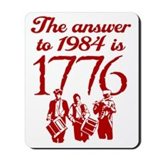 1776-blk Mousepad
