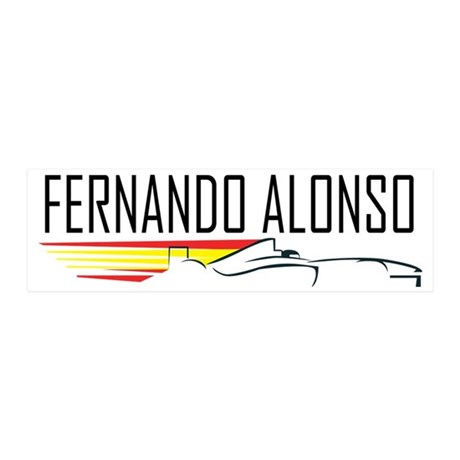 fernando alonso tee 20x6 Wall Decal