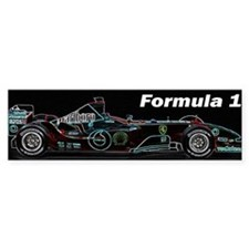 Formula1 Neon Car Bumper Sticker
