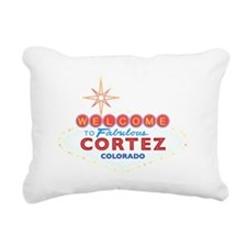 CORTEZ DARK Rectangular Canvas Pillow