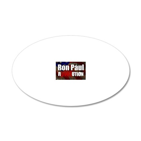 ron paul license plate 20x12 Oval Wall Decal