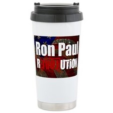 ron paul license plate Ceramic Travel Mug