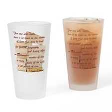 love books Drinking Glass