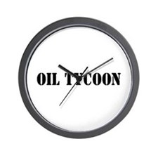 Oil Tycoon Wall Clock