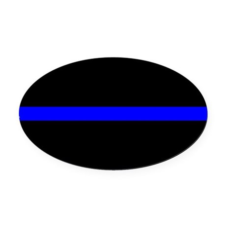 4 Inch Non-Reflective Thin Blue Line Distressed Retired Police Sticker Decal