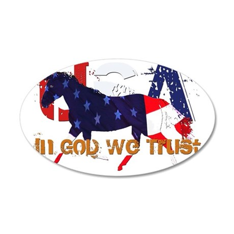 In God We Trust 35x21 Oval Wall Decal